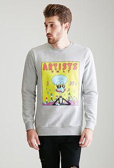 SpongeBob x Mina Kwon Artists Only Squidward Sweatshirt | 21 MEN - 2000116548