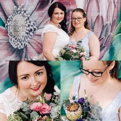 Congratulations Jen & Lara . Such a loving 🥰 couple 👰👰. It was such a pleasure to do #hairandmakeup on their #weddingday #bridalmakeup #bridalhair  @vivianashworth_  #photographer was Jon Tinkler 's photos are stunning @millgrovephotography Flowers by Ann's Flowers @annsflowers3192 🌸🌺Celebrant was Rachel Parker @rachelthecelebrant Dresses were from Brides of Melbourne @_bridesofmelbourne  Reception @true_south #lgbtq🌈 #pride #truelove