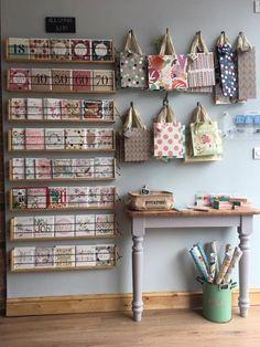 Cumbria, Gift Shop Interiors, Flower Shop Interiors, Gift Card Displays, Greeting Cards Display, Tante Emma Laden, Flower Shop Design, Stationary Shop, Retail Store Design