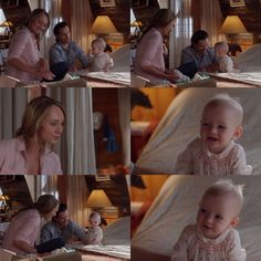 Ty: You broke your godparent's spirits, didn't you? Didn't you? Didn't you? (Lyndy squeals happily) Amy: That was her first laugh. Ty: And at Caleb and Cass's expense. (11x03)
