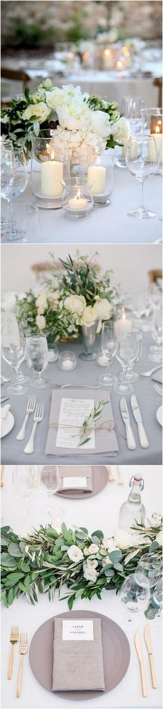 Elegant wedding table setting ideas #wedding #weddingdecor #weddingideas
