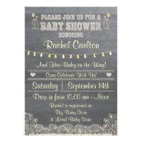 A Rustic Mason Jar Baby Shower Invitation