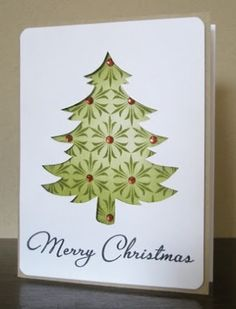 Christmas card: use negative space by megan