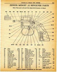 1960 Print Ad of Zephyr Midget Revolver Parts List cutaway view Cutaway, Revolver, Print Ads, Vintage Advertisements, Advertising, Ebay, Print Advertising, Revolvers, Vintage Ads