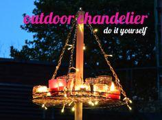 DIY // outdoor chandelier // außen kronleuchter