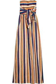 Thread Social's rainbow-striped cotton maxi dress is the epitome of sunshine chic.