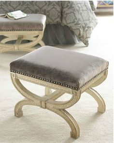 X Stools Love The Idea Of Two These Pushed To Together At Foot A Bed Maybe In Guest Room With Tray On It Benches Ottomans Pinterest