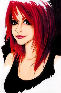 Hayley Williams - Copic Marker by *violentcosmos on deviantART