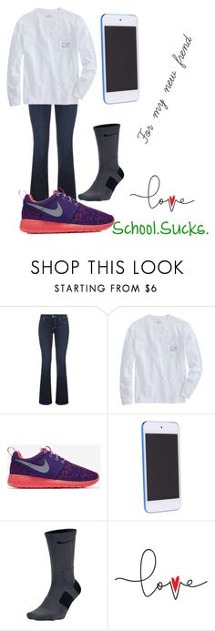 """New frend(and it's not chicken)"" by duhitsallison ❤ liked on Polyvore featuring True Religion and NIKE"