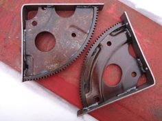 Rusty Flywheel Engine Gear Shelf Brackets by ScrapyardArt on Etsy, $40.00