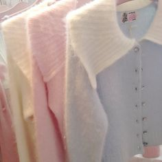 Love these pastel cardigans. Pretty Outfits, Cute Outfits, Pastel Palette, Shabby, Aesthetic Colors, Pretty Pastel, Soft Colors, Soft Pastels, Pastel Colours