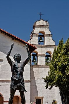 San Juan Bautista Mission - California. We took a tour on our first vacation together, visiting his cousins.