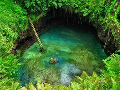 Fosa oceánica de To Sua. Isla de Upolu (Samoa).