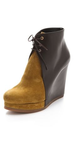 Jil Sander Lace Up Wedge Booties http://fashionlovestruck.com/shopping-jackets-blazers/