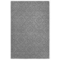 Emilia Carved Rug - Gray | Pier 1 Imports