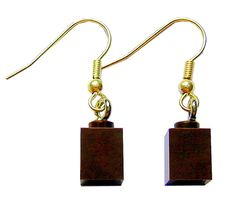 Brown LEGO® brick on a Silver/Gold plated dangle (hook) - PIF (Pay It Forward) Top Gifts, Best Gifts, Gifts For Him, Gifts For Women, Elo 7, Lego Brick, Colorful Bracelets, Plaque, Bracelet Making
