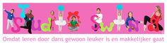studioswing.nl  Studio Swing laat kinderen leren door dans. Uit diverse onderzoeken blijkt dat kinderen sneller en beter leren als een begrip aan een beweging wordt gekoppeld. Dans stimuleert ook fysieke, sociale, kunstzinnige en creatieve ontwikkeling. Gezien op de Kidvak
