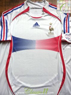 Relive France s 2006 2007 international season with this vintage Adidas  away football shirt. France 30f54f7b8