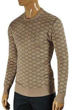 7b45a3b9 Mens Designer Clothes   GUCCI Mens Stripe Fitted Knit Sweater #96 - Mens  Gucci -