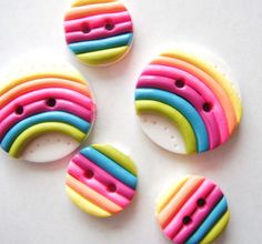 Button Rainbows handmade polymer clay buttons