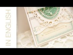Die Cutting #26: Loving Wishes Card and Enhancing Elements dies from Spellbinders - YouTube