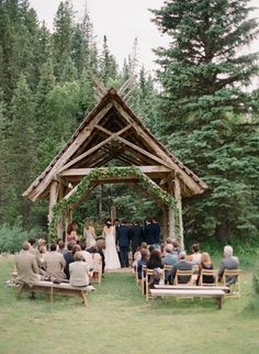 Intimate ceremony at Dunton Hot Springs, CO.