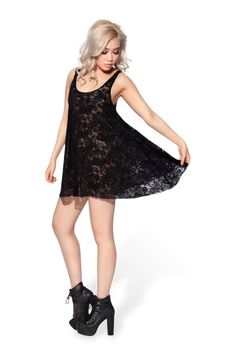 Lace Baby Doll Dress - LIMITED › Black Milk Clothing