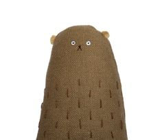 Linen Bear Miniature Bear Tiny Toy Bear Plush Bear от poosac, £18.50