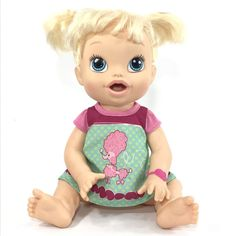 2013 Blonde Pigtails BABY ALIVE Bilingual All Gone Doll *POODLE CUTIE*  | eBay Baby Alive, Acacia, Poodle, Dolls, Disney Princess, Disney Characters, Board, Ebay, Bedrooms