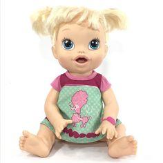 2013 Blonde Pigtails BABY ALIVE Bilingual All Gone Doll *POODLE CUTIE*  | eBay