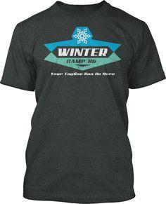 Ice Winter Camp T-Shirt Design #462