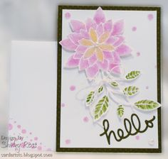 Card Art, Etc.: Brilliant Peony Painted, Stenciled And Beaded