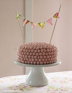 Strawberry Malt Ball Cake!