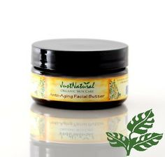 Facial Butter - Anti-Aging Sweet Almond Butter, Shea Butter, Mowrah Butter, Rice Bran Oil, Grapeseed Oil, Rosehip Oil, Primrose Oil, Borage Oil, Essential Oils of Carrot Seed, Lavender, Vitamin E.