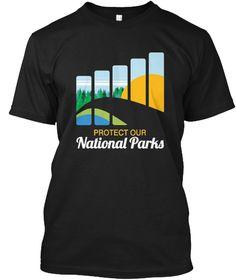 National Parks, Us Alt Resist T Shirt Black T-Shirt Front