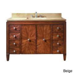 Avanity Bwood 49 Inch Single Vanity In New Walnut With Sink And Top By