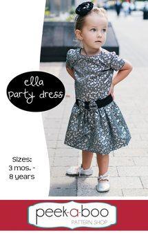 Ella Party Dress PDF Sewing Pattern