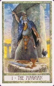 """Druidcraft Tarot - this card is one of the reasons I can't read with that deck, however pretty it is... all I can think when this card comes up is """"Ah-ah-ah-ah, Stayin' Alive, Stayin' Alive!"""""""
