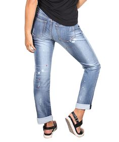Look what I found on #zulily! Lola Jeans Light Blue Ashley Skinny Jeans by Lola Jeans #zulilyfinds