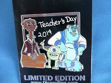 MONSTERS Inc TEACHERS DAY  Disney Pin  2014   Limited Edition     NEW On Card