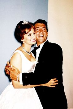 Sophia Loren and Dean Martin at the Oscars -- April 6th, 1959 -- they presented Best Original Song that night to Learner and Lowe for the song Gigi