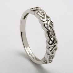 Matching Wedding Bands Celtic Knot Rings In 14k White Or Yellow Gold Myloveweddingring A Perfect Match Pinterest