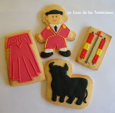Galletas decoradas de toros