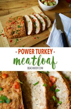 Packed with 25 grams of protein, this turkey meatloaf recipe from the Body Beast Eating Plan is just what your muscles have been craving. Easy to make, and so tasty. Healthy Cooking, Healthy Snacks, Cooking Recipes, Healthy Recipes, Healthy Dishes, Healthy Eating, Healthy Turkey Meatloaf, Meatloaf Recipes, Turkey Recipes