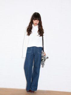 MUROAYAさんのニット・セーター「SLY 」を使ったコーディネート