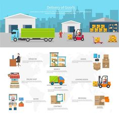 Delivery of Goods Logistics by robuart on @creativemarket