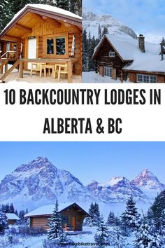 10 backcountry lodges in Rockies of Alberta & British Columbia that are fantastic for nights in both summer and winter. Many of them require that you visit on foot or by skis Alberta Canada, Calgary, Canada Winter, The Places Youll Go, Places To Go, Alberta Travel, Canada Destinations, Getaway Cabins, Visit Canada