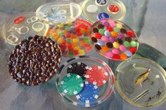 Any Coaster, Candy, Coffee, Fishing, Blue Willow, Poker Chips, Hardware, Secretary ,Pop Top, Beer Cap. $10.00, via Etsy.