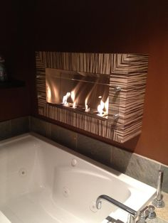 Wall Fireplaces, Fireplace Wall, I Can Do It, Bath Time, Shelter, Repurposed, Collections, Home Decor, Decoration Home