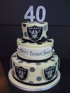raiders | buttercream cake for a raiders fan's 40th-- painte… | Flickr